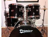 Premier Olympic Drum Kit (C/W hardware and cymbals)