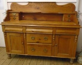 Antique Victorian pine sideboard