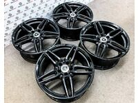 """GENUINE MERCEDES 19"""" AMG ALLOY WHEELS - AVAILABLE WITH TYRES - 5 X 112 - GLOSS BLACK"""