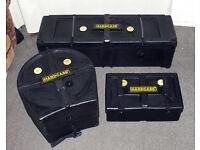 ROLAND V Drums Hardcase flight cases TD8 plus other kits gig wheeled hardware box, 2 other cases