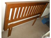 FABULOUS WOODEN HEADBOARD FOR A DOUBLE BED.