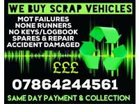 SCRAP CARS WANTED MANCHESTER - BEST PRICE PAID - MOT FAILURES! SPARES & REPAIR! SCRAP MY CAR!