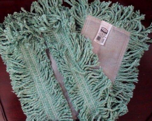 "Case of 12 ~ Rubbermaid Commercial Cut End Disposable Dust Mop Blend 24"" Green"