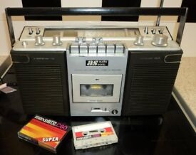 Vintage 1970s Portable Audiosonic Radio Cassette Stereo Mains/Battery/6v In Ex working condition