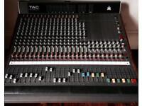 AMEK TAC Scorpion 1608 / 16 Channel Analog Mixer - Mixing Desk - Glasgow / + 16 to 16 Jack Loom