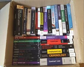 45 Law Books for LLB Students from First to Final Year (includes all core subjects)