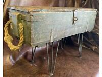 Vintage military Ammo box coffee table