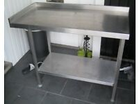 Food preperation / catering table / stainless steel counter top, 120 x 60 x 90cm