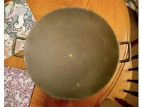 "Chinese wok 14"" / 35cm (dia). Brand new unseasoned cast iron round bottom"