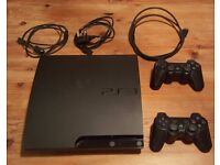 PS3 Slim 160gb + 6 Games + 2 Controllers