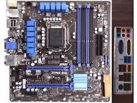 Mini Gaming Combo! Intel z77 mATX Motherboard Core i5 3570k CPU 8GB DDR3 2400MHz OC Ram