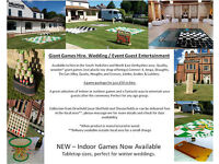Giant Game Hire, Quality giant games for wedding guest entertainment.