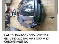 Genuine Harley Davidson. Brand new filter with chrome.original PIPES also a valuable.