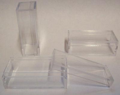2 X 1 X 34 Hard Plastic Clear Display Cases X50