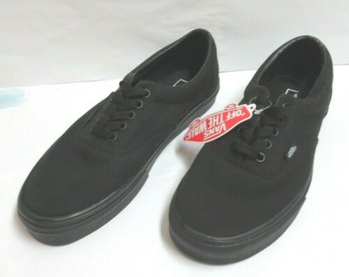 Vans Era Black/Black Los Top Lace-Up Skate Shoes M-9.0/W-10.5 NWT/NWOB