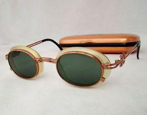 Jean Paul Gaultier 58 5201 Vintage Sunglasses copper round oval green unisex 359