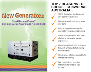 New Diesel Generator 8kVA 240V single phase in Canopy Raceview Ipswich City Preview