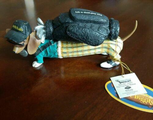 Hot Diggity! Dog The Fairway Weiner Golfer Dachshund Figurine by Westland