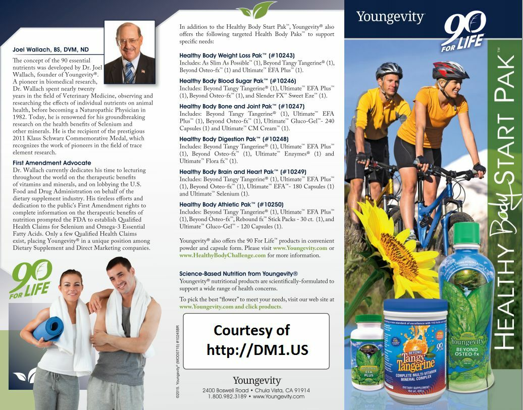 youngevity healthy body pak choose original 20 or tablets by dr wallach
