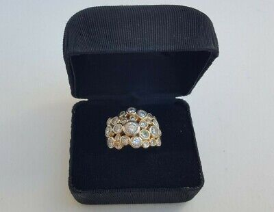 Beautiful Ladies Fine Estate Jewelry HSN Sterling Silver CZ Cluster Ring Size 10