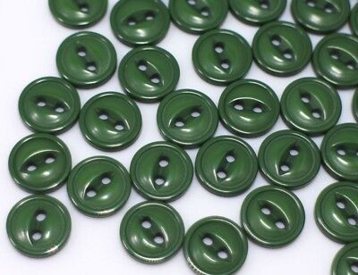 Dark Green Two Holes Buttons Small Cat Eye Army Green Sewing Craft 11mm - Green Army Guy Costume