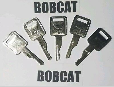 5 Bobcat Keys Fits Case-ih Volvo Compactor Equipment Ignition Logo On 1 Side