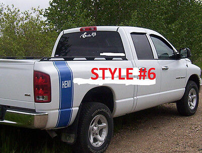 Truck Vertical Rear Bed Stripes Decal Stripe Decals fit All YR dodge Ram