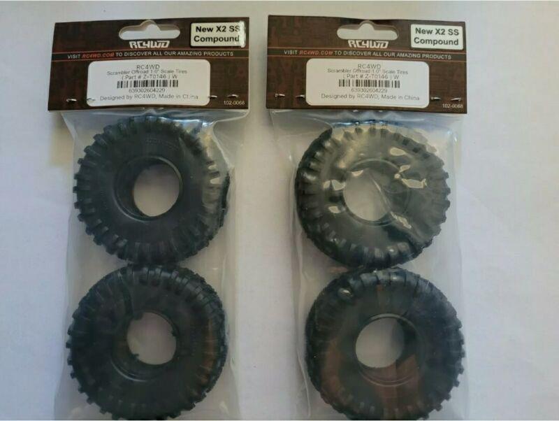 """Scx24 RC4WD Scrambler Mud 1.0 Micro Tires *4 total tires* 1.0"""" Axial scramblers"""
