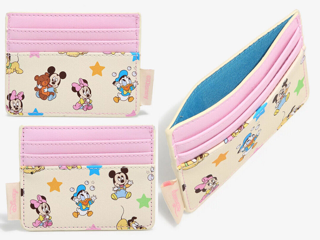 Loungefly Disney Baby Mickey Mouse And Friends Cardholder Wallet ID Holder