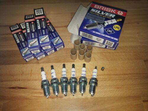 6x Lexus GS300 3.0i y1997-2004 = Brisk YS Lpg,Autogas,Cng,Gpl,Petrol Spark Plugs