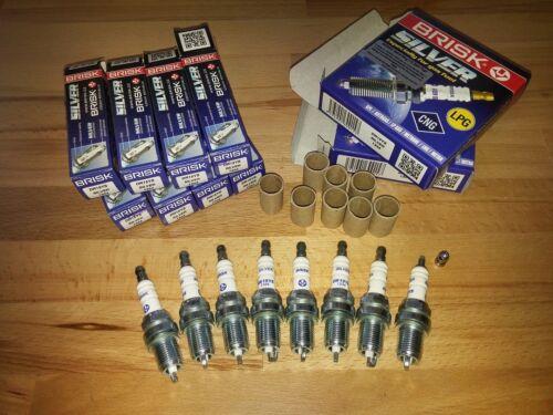 8x Lexus LS430 4.3i v8 y2001-2010 = Brisk YS Silver Electrode Petrol Spark Plugs