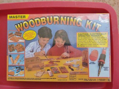 Wood Burning Kit  Vintage NSI Master Wood Burning Kit  New Factory Sealed
