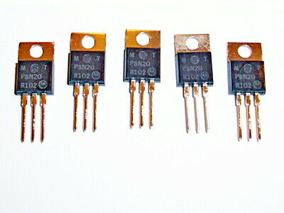Motorola Mtp8n20 Power Fet Metal-oxide Semiconductor 200v N-ch To-220ab 5 Pcs