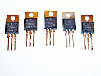 Motorola Mtp8n20 Power Fet Metal-oxide Semiconductor 200v N-ch To-220ab 5 Pcs