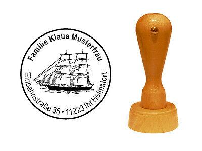 Stempel « SEGELSCHIFF 02 » Adressenstempel Motivstempel Kapitän Seefahrt Schiff