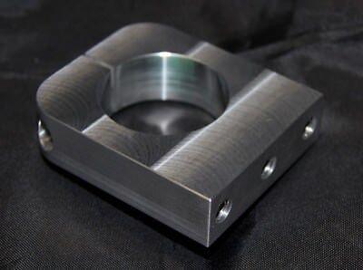 Eurohalsaufnahme 43 mm mit M8 Gewinde Spindelaufnahme Frässpindel Eurohals