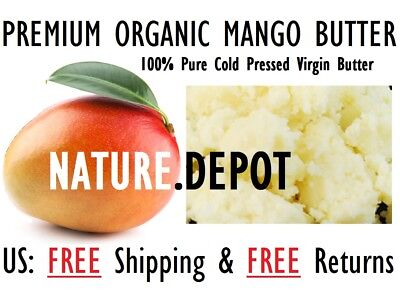 #1 RATED BEST Raw MANGO BUTTER 100% Pure Organic Natural Unrefined 2 oz - 10 Lb