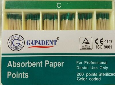 Coarse C Absorbent Paper Points Dental Root Canal Endodontics Box Of 200