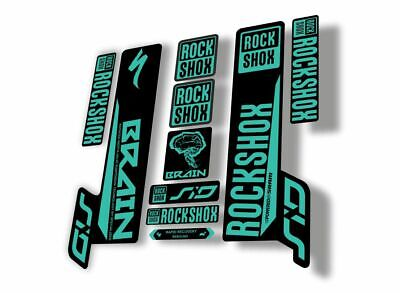 Rock Shox LYRIK 2013 Mountain Bike Cycling Decal Sticker Set Adhesive Oil Slick