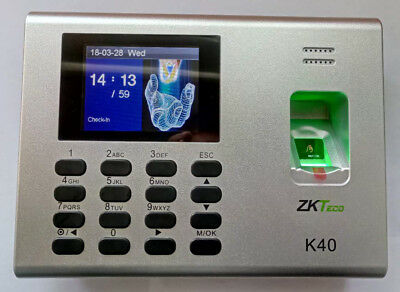 Zkteco K40 Fingerprint Time Clock With Access Control Terminal Built In Battery