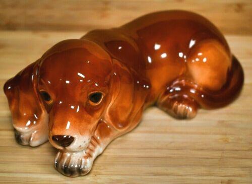 Vintage Lefton Brown Dog Figurine Japan (H2817)