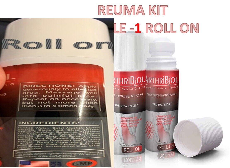 Anti-Rheumatic Anti-Inflammatory yucca analgesic pain FIBROMYALGIA roll on & cap 2