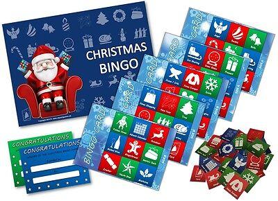 Xmas Stocking Filler - CHRISTMAS BINGO GAME- Family, Kids, Office Xmas Party