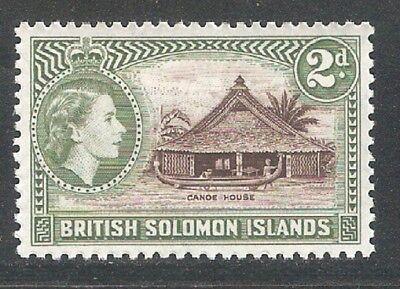 Solomon Islands 1956,QEII,Scott 92,VF MLH* (SL-1)