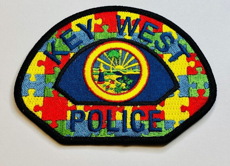 Key West Police Department Autism awareness patch. KWPD & ASK