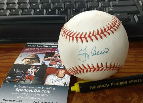 New York  Yankees Yogi Berra autographed American  League  JSA Certified