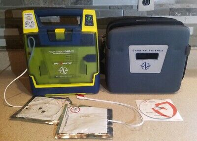 Cardiac Science Powerheart G3 Aed W Electrode Pads Case Battery