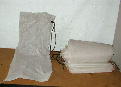 25x White Woven Polypropylene Sacks Strong Rubble Bags Size 29.5inch X 12.5inch