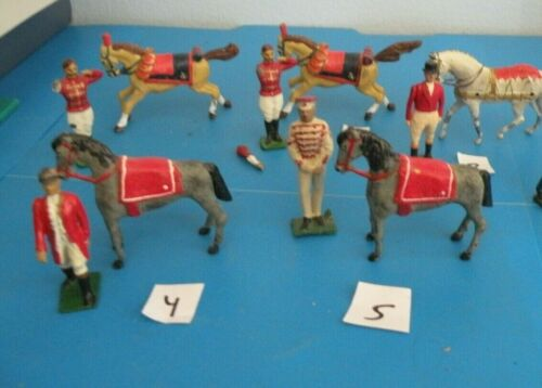 Circus trainer with show horse Lead Britains toy figures 5 styles PICK 1  T6T12