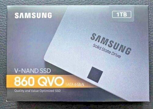 """Samsung 860 QVO 1TB Solid State Drive 2.5"""" SSD V-NAND SATA 6Gb/s MZ-76Q1T0B/AM"""